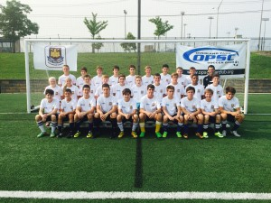 OPSC players at WHU camp