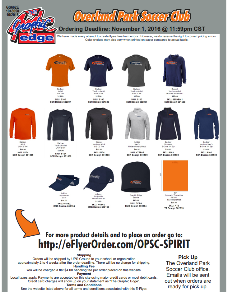 OPSC Spirit Wear
