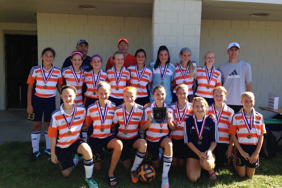 OPSC Academy Crush (U14 Girls) won the Azzurri Invitational Soccer Tournament in Omaha, NE. Coached by Jason Phelps.