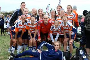 OPSC Villa U14 girls coached by Stu Hinton - KC Fall Finale.
