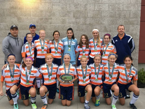 OPSC Academy Crush U14 Girls team won the U14 gold division of the Challenger Sports Invitational.