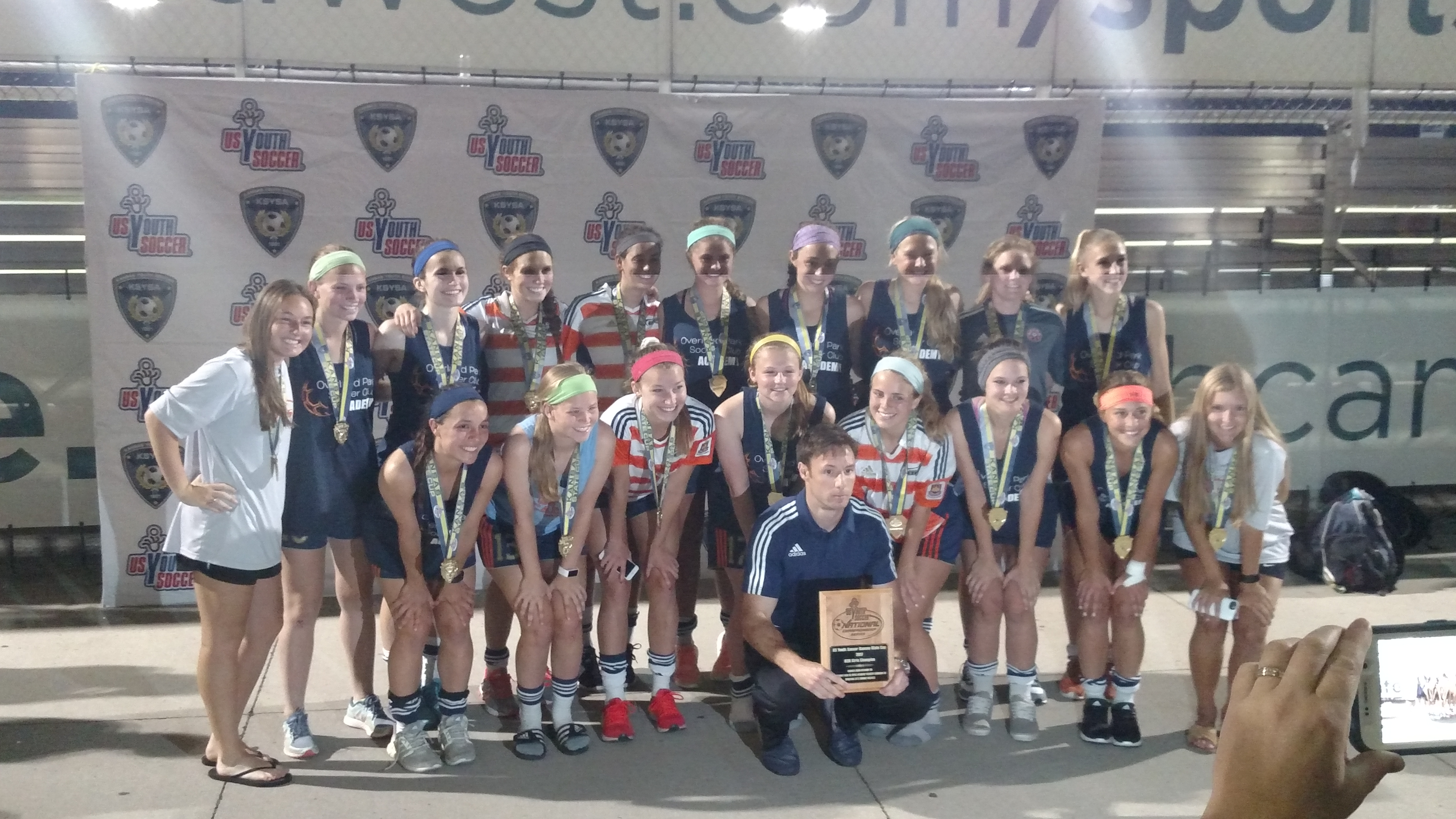 Congratulations to the newly crowned Kansas State Champions - OPSC Velocity Girls U19 (1198 birth year. Coached by Max Cookson.