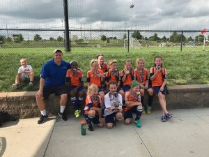 OPSC Hammers 2008 Girls U10 team who won the KC Fall Kick Off