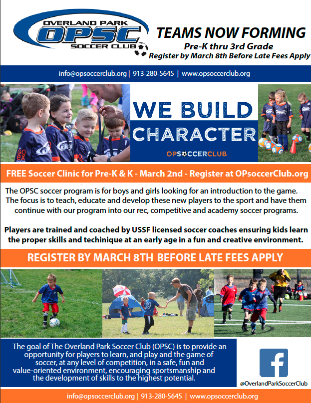 Spring 2019 Soccer Registration