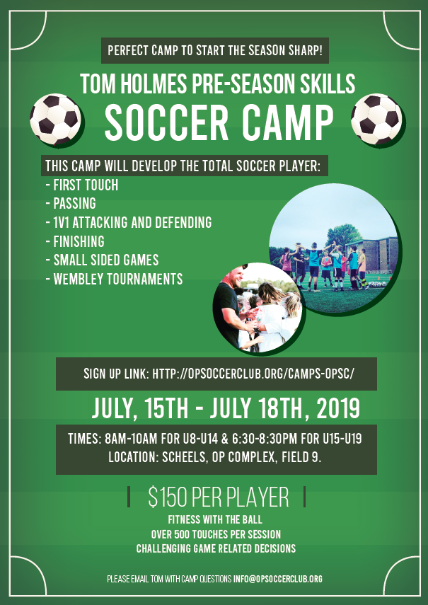 Tom Holmes Pre-Season Skills Soccer Camp