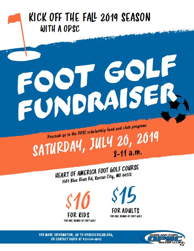 OPSC Foot Golf Fundraiser July 20, 2019