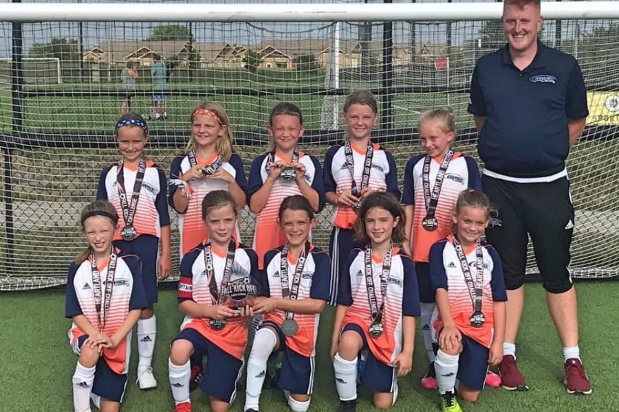 OPSC Liverpool U10/11 girls finalists at Fall Kick Off Challenge