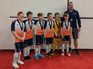 OPSC Pre-Academy 2010 U10 Boys Team Won Legends 4v4 indoor tournament
