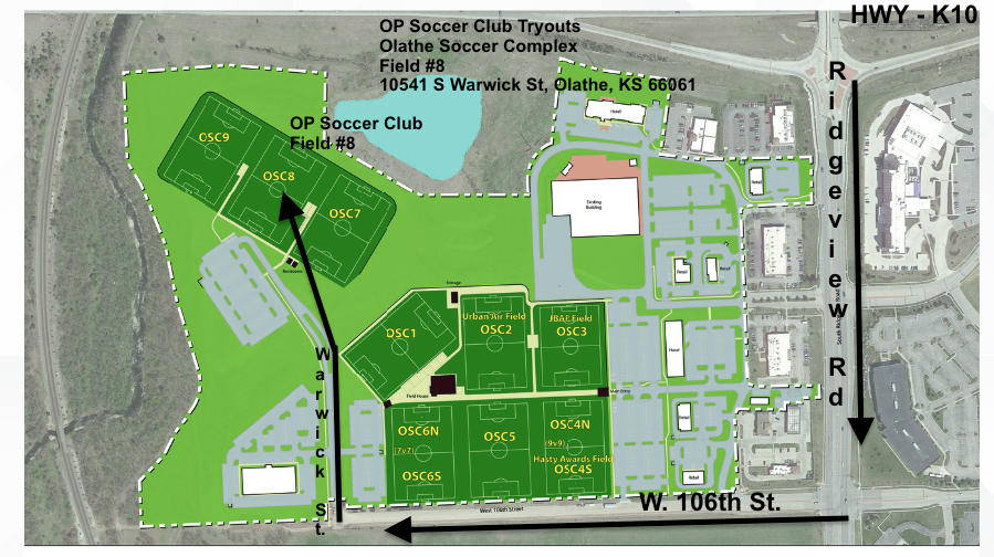 OP Soccer Club Tryout Map