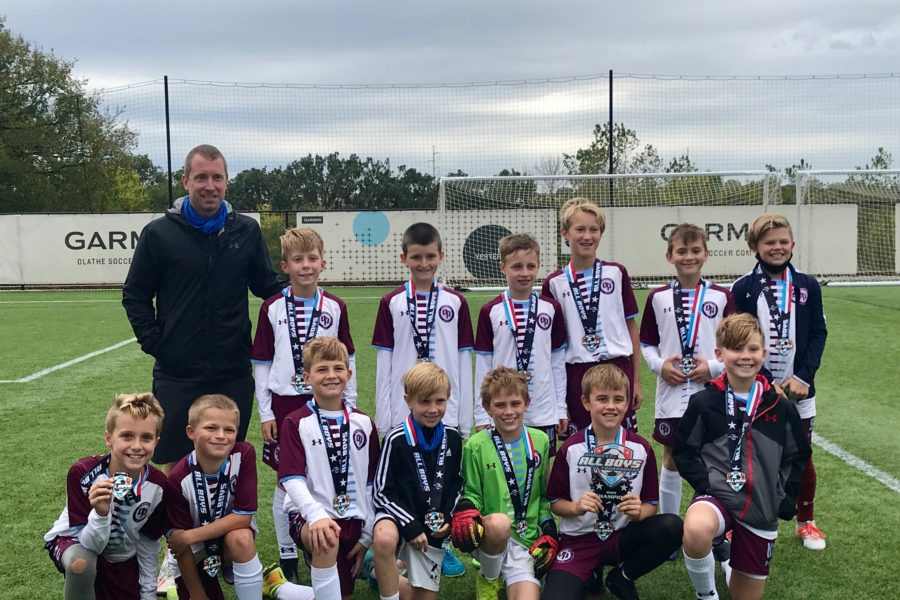 OP Soccer Club Academy team U10 Boys coached by Paul Walker who were Champions of the Midwest All Boys tournament