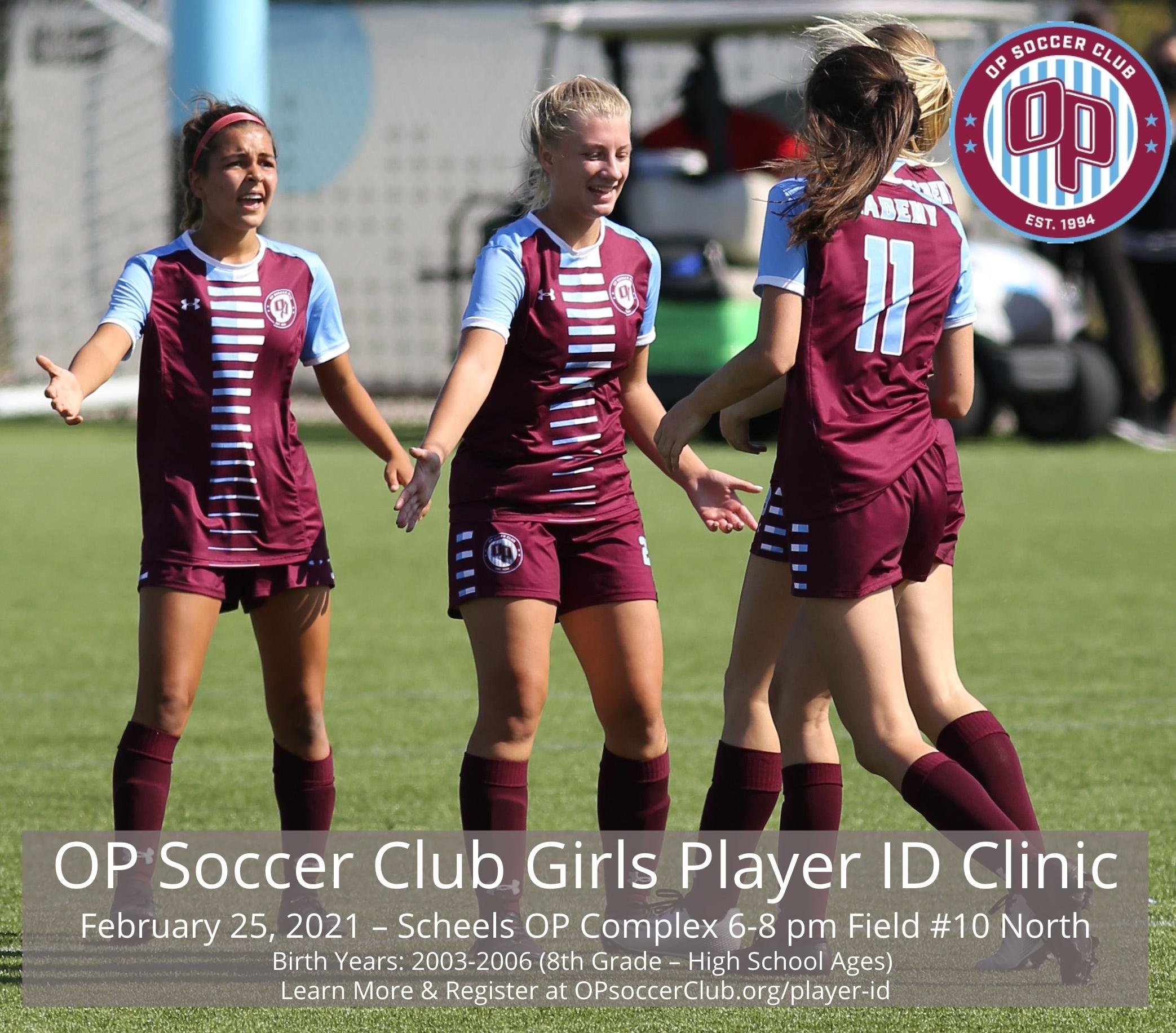 OP Soccer Club Girls ID Clinic